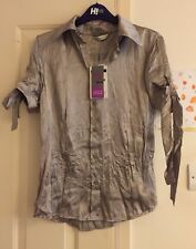 BNWT George Satin Feel Sage Blouse Top, Size 14 - Super!