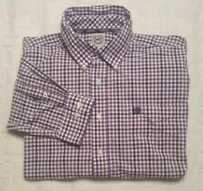 Men's CINCH Long Sleeve Button Front Checkered Western Cowboy Rodeo Shirt Sz. L