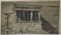 1909 RPPC Greece Athens Acropolis Caryalides Muses Real Photo Postcard F7