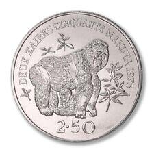 Zaire Lowland Gorilla 2 1/2 Zaires 1975 BU  Silver Crown