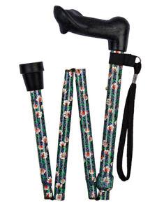 Anatomical Right Handed Morris Pattern Folding Walking Stick