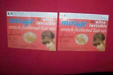 New 4 Jac-O-Net No.146 Light Mirage Invisible Hair Nets Light Brown/Blond Hair