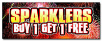 SPARKLERS BUY 1 GET 1 FREE DECAL sticker (NOT ACTUAL SPARKLERS)