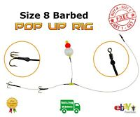 Size 8 Barbed Pop Up wire Trace --- Pike Fishing Dead Bait Rig