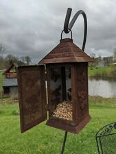 """Vintage Metal Bird Feeder House Rustic Indiana Farmhouse Primitive Butterfly 12"""""""