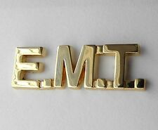 FIRE FIGHTER FIRST RESPONDER EMT SCRIPT PARAMEDIC GOLD COLOR LAPEL PIN 1 INCH
