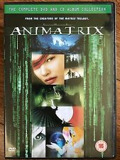 The Animatrix ~2003 ANIMATO MATRIX SPIN-OFF ~ UK DVD+CD COLONNA SONORA