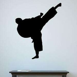 Martial Arts High Kick Silhouette Karate Kung Fu Wall Sticker Decal Vinyl UK