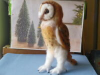 Needle felted wool Owl mini sculpture one of a kind