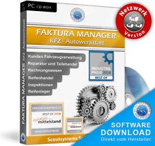 Autowerkstatt Kfz Rechnungsprogramm Netzwerk 10 PC Faktura Software Programm,EDV