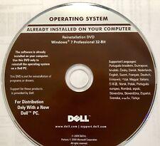 DELL REINSTALLATION DVD WINDOWS 7  Professional 32 BIT DVD NEW Sealed (DVD1)