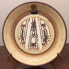 POTTERY ART PLATE from Israel SIGNED