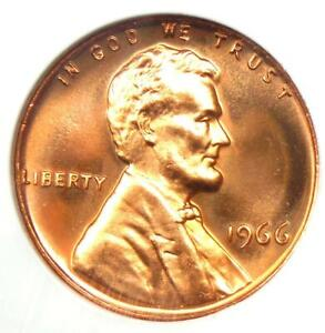 1966 SMS Lincoln Cent 1C Penny - NGC MS68 RD Cameo - $2,500+ Value - Top Pop 3/0