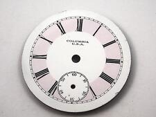 White & Pink Columbia Watch Dial for Pocket Watches Vintage Antique 33.83mm