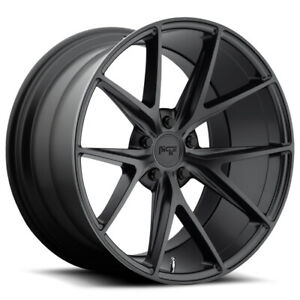 "Niche M117 Misano 20x9 5x4.5"" +25mm Matte Black Wheel Rim 20"" Inch"