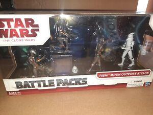 Rishi Moon Outpost Attack Battle Packs STAR WARS The Clone Wars TCW MIB