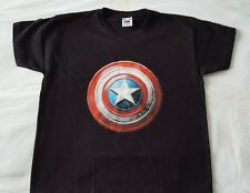 TEE SHIRT ENFANT NOIR CAPTAIN AMERICA - MARVEL