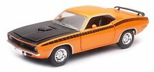 NEW RAY 1970 PLYMOUTH CUDA HARD TOP 1/24 DIECAST CAR ORANGE NEW 71873B