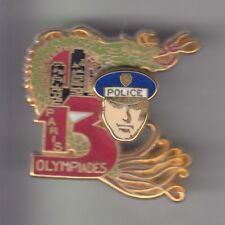 RARE PINS PIN'S .. POLICE NATIONALE OLYMPIQUE DRAGON 13 EME PARIS 75 BIG 3D ~CZ