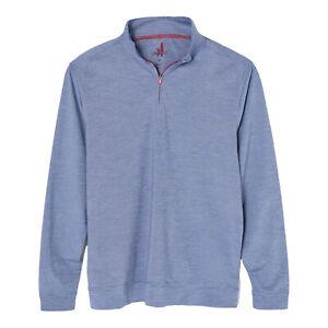 Johnnie O Mens Vaughn Prep-Formance 1/4 Zip Golf Pullover Riptide Size L $115