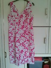 M&S Dresses x 2 : Size 16 : Bright Pink/White + Scarlet Red : Great Condition