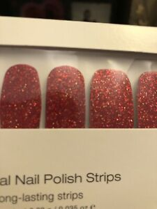 "HTF! RETIRED! BNIP! ""A-LISTER"" Color Street 100% real nail polish strips! RED 🦄"