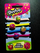 Pack Of 4  SHOPKINS Hair Bobbles /Bands Birthday Bag Filer Series 7 Doll 5 3 2 6