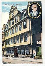 F 384-Francoforte/M Goethe casa, lito color, casa editrice Jacobs serie 922 n. 507