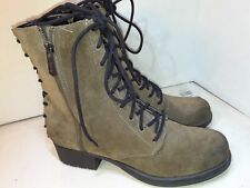 Circus by Sam Edelman Griffin Brown Suede Back front laces Zipper Womens Sz 10 M