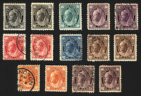 Canada #66-#73 1897-98 Mint & Used Set of 14 items