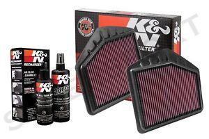 K&N 33-5020+ 33-5021 Hi-Flow Air Intake Drop in Filter + 99-5050 Cleaning Kit