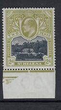 ST HELENA  1903  2d sage green-KEVII -Sg57-Bottom marginal lightly mounted mint