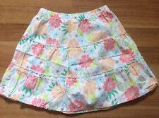 Carter's floral print skirt Girls Ruffles Size 5 EUC Below The Knee