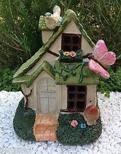 Miniature Dollhouse FAIRY GARDEN Gnome ~ Woodland Fairytale Floral House Cottage