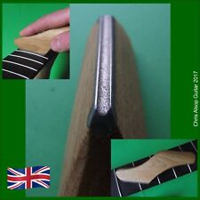 Diamond Guitar Fret Crowning File with Oak Handle. Concave Profile TF085