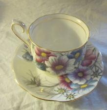 1950s-1960s ROYAL ALBERT BONE CHINA COSMOS Hampton Handpainted Cup & Saucer