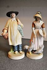 Two Vintage Colonial Dutch Farming Couple Figurines