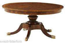 NEW Theodore Alexander Althorp Expandable Jupe Round Mahogany Dining Table