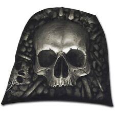 Spiral Direct Catacomb os du crâne noir gothique en coton léger Bonnet
