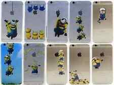 Funda para iPhone 5 5S,6,6S,6 6S plus gel silicona Minions + Cristal opcional