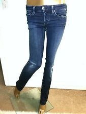 "Genetic Denim Women's straight leg ""Liam"" Jeans in Vista sz 24 $192"