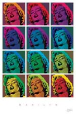 ACTRESS POSTER Marilyn Monroe Pop Art Bernard of Hollywood 12 Tiles