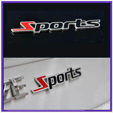 2 Qty Metal Sports 3D Chrome Sticker for Car Honda City Amaze Jazz Brio Accord