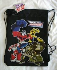Black Transformers Prime Bumble Bee Drawstring Backpack Sling Boy's Tote Gym Bag
