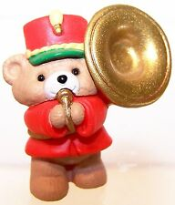 1991 Hallmark NEW Christmas MUSIC MAKER BEAR w/TUBA 1st Merry Miniature QFM1779