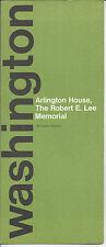 Robert E. Lee Memorial Arlington Washington DC Tours Vintage 1977 Brochure