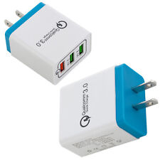 30W 3-Port USB Wall Charger with Dual Quick Charge 3.0 Ports For iPhone Samsung
