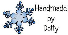 65 Personalised Mini Address labels Handmade etc  - Christmas Snowflake