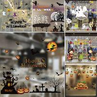 Halloween Background Wall Sticker Door Window Home Shop Party Decoration Decal