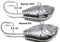Meeresjig Ultra-Minnow 300  400 g Mustad 9/0 10/0 Jigkopf JB Dorschjig Jighead
